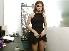 FemFem is a very cute 19 years old ladyboy. She has a very cute smile, natural hair that she plans to grow very long, really beautiful and soft boobs, hard uncut cock and a cute ass that is starting to get welcoming. She is versatile and she can cum hands