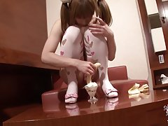 This cute doll is striking some cute poses with her sexy pair of lingerie. With cute budding tits, nice cock and very fuckable ass, Hiromi shares one of her sexual fantasies today fooling around and getting naughty in front of Hiro`s lenses. To make thing