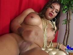 Sacha Clerk is a gorgeous tgirl with a sexy curvy body, big boobs, a juicy ass and a delicious uncut cock! Watch this sexy TS masturbating and cumming!