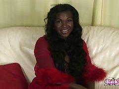Black Luscious is a sexy Grooby newbie with a hot body, big tits, big hard cock and a superb ass! Join this sexy tgirl as she shakes her booty and strokes her hot cock!