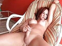 Big shaped she-male wants you to have fun with her.