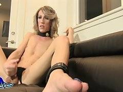Megan Mayhem is a sexy Grooby girl with a hot well toned body, sexy small tits with pink nipples, a hot round bubble butt and a big hard cock! Watch this sexy tgirl jacking off and cumming!