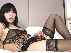 19-year old Mio is another one of Terry`s recent discoveries who has made instant waves with her intro sets and today`s performance is no exception. Stocking clad and rocking her killer heels she takes to the sheets to spoil us with a sinful display of so