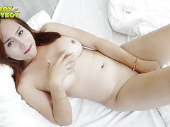 Annabelle always looks so cute and sexy. Her face is extremely pretty and she has a cock that will make your mouth water. She returns here in Ladyboy-Ladyboy HQ and she isn`t shy about getting naked in front of the camera at all. Her body will drive you c