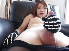 Meet gorgeous transgirl Miki, she`s absolutely gorgeous and loves dressing in silky stockings and pantyhose. You`ll see first hand just how horny she gets when she strips down to reveal a sexy body and big hard cock.