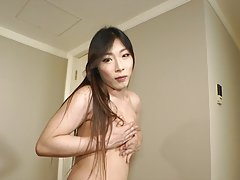 Looking almost edible and up for anything in her crotchless pantyhose and pink sparkly mini-skirt Azusa shows us she means business as she poses for Terry`s lenses like she was just born for it!