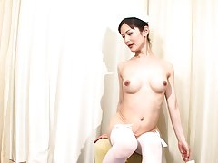 Sayuri has a great body, nice tits and a beautiful tgirl pussy for you to enjoy. This naughty nurse is ready to help you with whatever health problems you might have.