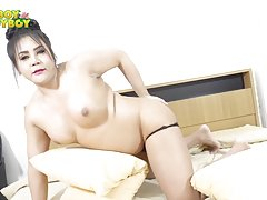 This beautiful raven haired ladyboy has the kind of super tight and voluptuous body that is certainly made to blow your mind. With such nice curves and smooth glorious skin she will make you want to fuck. Her eyes simply tells you that she's after for som