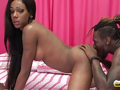 Get ready for a smoking hot hardcore scene! Jack Flash has brought Malibu Barbie to Black Shemale Hardcore and she is ready to get that sweet ass pounded hard! Malibu Barbie and Dean were totally into each other, Barbie enjoyed feasting on Dean`s cock as