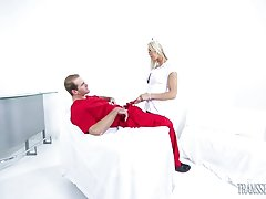 Nurse Aubrey Kate and Dr. Jonah Marx have fun behind closed doors. They`re both hornier than ever and want to suck and fuck each other badly. There are no limits with this stunning babe! She is ready to fill all of Dr. Jonah Marx`s sexual fantasies! Ass f