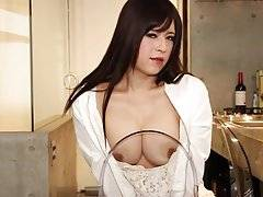 Say konnichiwa to busty beauty Mayu who is set to make some serious waves here on SMJ - just 24-years young with a truly awesome rack, soft white skin and a granite hard, uncut serving of pure shogun length in her panties